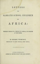 Cover of Letters to Sabbath school children on Africa