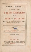 Cover of Lexicon technicum, or, An universal English dictionary of arts and sciences