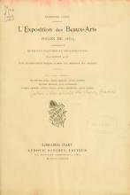 Cover of L'exposition des beaux arts (Salon de 1882)