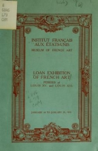 Cover of Loan exhibition of French art