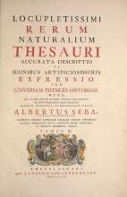Cover of Locupletissimi rerum naturalium thesauri accurata descriptio, et iconibus artificiosissimis expressio, per universam physices historiam t. 3