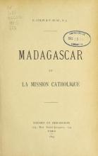 Cover of Madagascar et la mission catholique