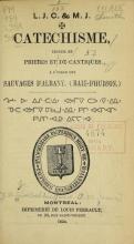 Cover of [Maltese cross] Catechisme, recueil de prieres et de cantiques à l'usage des sauvages d'Albany, (Baie-d'Hudson.)