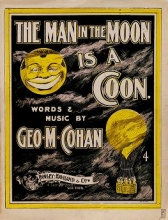 Cover of The man in the moon is a coon