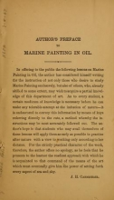 Cover of Marine and landscape painting in oil