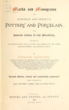 Cover of Marks and monograms on European and Oriental pottery and porcelain
