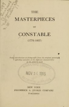 Cover of The masterpieces of Constable (1776-1837)