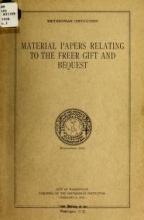 Cover of Material papers relating to the Freer gift and bequest