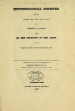 Cover of Meteorological register for the years 1822, 1823, 1824, & 1825