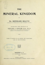 Cover of The mineral kingdom v.1  (1912)