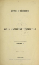 Cover of Minutes of proceedings of the Royal Artillery Institution v.10 (1877-1879)