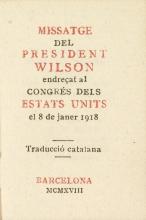 Cover of Missatge del President Wilson