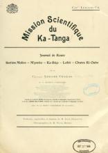 Cover of Mission scientifique du Ka-Tanga