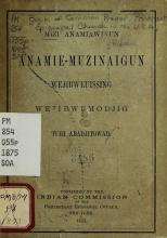 Cover of Mizi anamiawinun anamie-muzinaigun Wejibweuissing Wejibwemodjig tchi abadjitowad