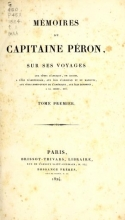 Cover of Mémoires du Capitaine Péron