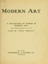 Cover of Modern art
