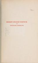 Cover of Modernt engelskt boktryck och engelska bokband