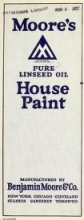 Cover of Moore's pure linseed oil house pain