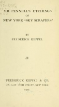 Cover of Mr. Pennell's etchings of New York 'skyscrapers'