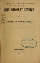 Cover of Musée national et historique du chateau de Frederiksborg