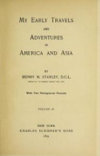 Cover of My early travels and adventures in America and Asia v.2