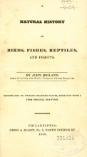 Cover of A natural history of birds, fishes, reptiles, and insects