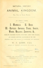 Cover of Natural history of the animal kingdom for the use of young people