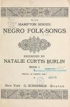 Cover of Negro folk-songs