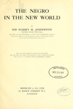 Cover of The Negro in the New world