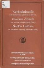 Cover of Die Neolanfarbstoffe auf Seidenstulck (crelðe de Chine) -