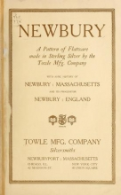 Cover of Newbury- a pattern of flatware made in sterling silver by the Towle Mfg. Company