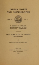 Cover of New York city in Indian possession