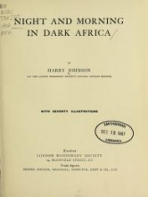 Cover of Night and morning in dark Africa