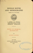Cover of Notes on Iroquois archeology