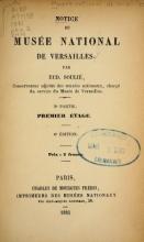 Cover of Notice du Musée national de Versailles