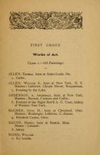 Cover of Official catalogue of the U.S. Fine arts section