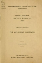 Cover of Official catalogue of the fine arts exhibit, illustrated