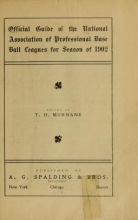 Cover of Official guide of the National association of professional base ball leagues for