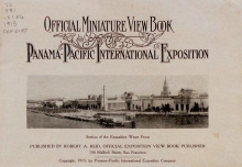 Cover of Official miniature view book of the Panama-Pacific International Exposition