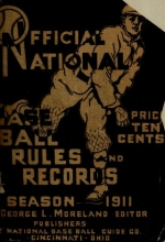 Cover of Official national baseball guide