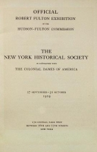 Cover of Official Robert Fulton exhibition of the Hudson-Fulton Commission