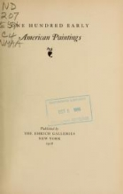 Cover of One hundred early American paintings