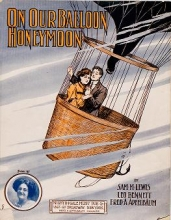 Cover of On our balloon honeymoon