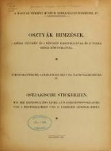 Cover of Osztyák himzések