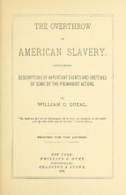Cover of The overthrow of American slavery