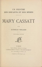 Cover of Un peintre des enfants et des mères, Mary Cassat,
