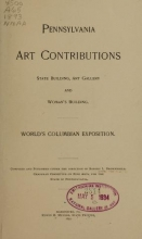 Cover of Pennsylvania art contributions