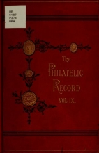 Cover of The Philatelic record