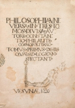 Cover of Philosophia universa in tres tomos divisa