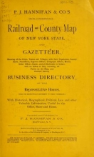 Cover of P.J. Hannifan & Co.'s new commercial railroad and county map of New York State and gazetteer